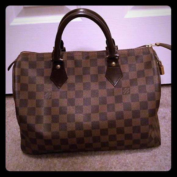 ec30e972f618 Louis Vuitton Handbags - LOUIS VUITTON SPEEDY 30 DAMIER EBENE